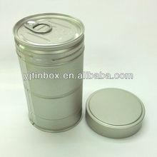 dongguan coca tea tin packaging box easy open lid and screw top coca tea
