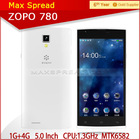 New Arrival ZOPO ZP780 MTK6582 Android 4.2 Smartphone 5.0MP camera top 10 cell phone