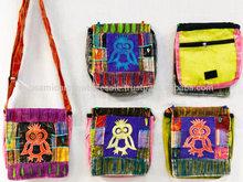 Wholesale Nepal Peace Sign Owl Tie Dye Bags Sling Purses Fabric Bags