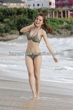 2014 Leopard color newest bikini in beach/2014 www sex com ladies sexy bikini in Swimwear&Beachwear