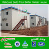 Modular flat top steel structure ISO container house for sale on construction site