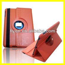 For Apple iPad Mini 1/2 360 roataingLichee pattern Leather Case ,auto sleep wake function for ipad mini 1/2