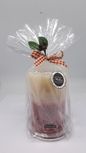 """Christmas Scented 2 Tone Ivory/Red Color Rustic Texture Candle Gift Set - 4x6"""""""