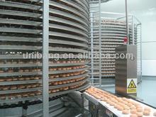 chicken freezing machine ,bread hamburger toast spiral cooling tower(manufacturer)