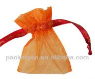 orange sheer pouch