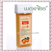 Waxkiss roller epilating soft wax with essential oil of orange make the skin is very smooth and renewed after depilation