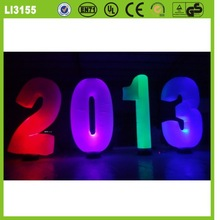 For promotion top LED lighting quality attractive various advertising colorful advertising inflatable numbers