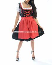 Red stylish Dirndl dress/Trachten dirndl dress/Traditional dirndl dress
