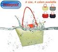 Verano de caramelos de colores bolsa de playa de las señoras, a prueba de agua diseñador de bolsos de las mujeres, liams promocional plegable bolsos de marca