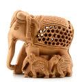 Escultura em madeira estátua do elefante Handmade indiano madeira estátua do elefante