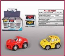 Alloy car, metal car Q version mini car with flower printing