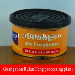 High-density enviromentally sustained wood orange smell solid air freshener