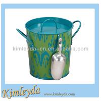 Tin Ice Bucket with Shovel