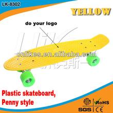 4 wheel skateboard deck small fish board deckpenny skateboard 22 deck PP plastic board single rocker board retail