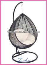 wicker hanging swing chair
