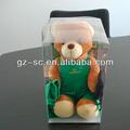 alta qualidade personalizado feito de plástico transparente boneco caixas de exposição