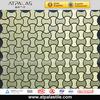Glass mixing aluminum mosaic irregular tile in China