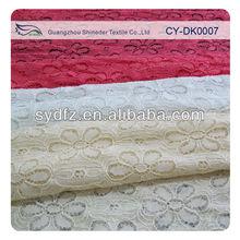 Bulk noble nylon cotton floral designs bridal lace fabrics(12 colors stock available)