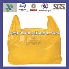 Custom design logo plastic tshirts packing bags with handle