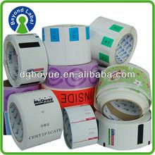 Beauty cheap Printing stickers with custom desgin logo lable printing, oem custom design
