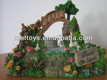 resin mini animal rabbits home decoration,popular rabbits home