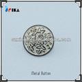 Flor de metal botón, botón de la caña, libre de plomo y níquel gratis