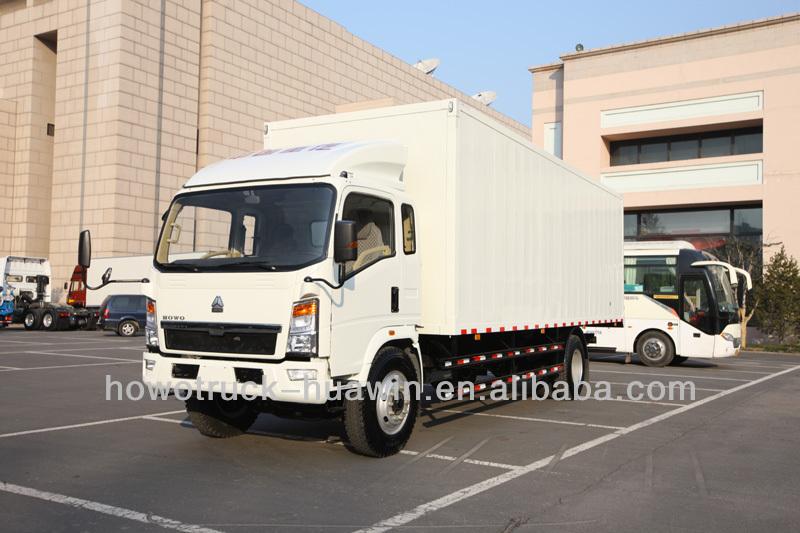 howo 4x2 van truck