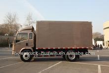 howo 4x2 van truck euro III