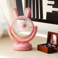 Hot sale rabbit cartoon 360 rotating usb mini desk fan