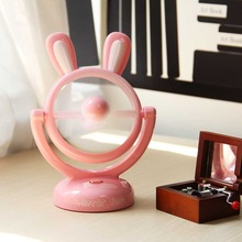 Hot sale rabbit cartoon 360 rotating usb mini desk fan