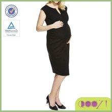 Knee length midi Ponte Bump maternity dress for office