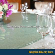 C - borde de vidrio mesa redonda precio