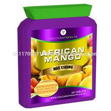 African Mango 1200mg tablets Dietary Supplement Pills Volcanat Health Premium Flat Bottle