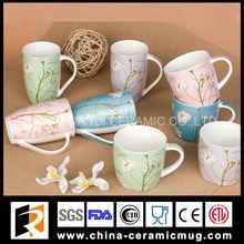 new fashion design decal printing 12OZ porcelain mug and cup