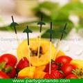 Atualizado criativo de bambu espeto de alimentos com bola de plástico