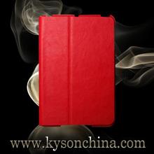 Custom design book leather case for ipad mini