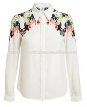 Custom White Design Sublimated Printed Satin Half Sleeves Shirt/ High Quality Fashionable/Stylish/Casual/Streetwear Shirt