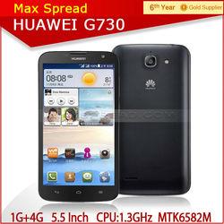 Huawei G730 MTK6582M Quad Core Phone 1.3GHz 5.5 inch Screen wcdma smart phone