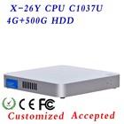 X-26Y fanless Celeron mini pc C1037u Digital Signage PC ,Touch Panel PC ,small computer case !!