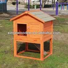 Wood rabbit house
