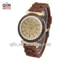 QD0186 silicon wristband usb watch