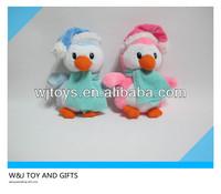 W&J 2014 hot custom Christmas penguin plush toy