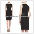 Abbigliamento cinese, colore abito corto nero, vestito per le donne( ydq04047)