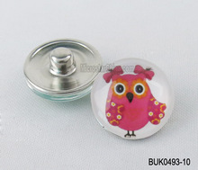 18mm Wholesale cute kids bird fashionable metal snap button
