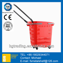 commercial plastic collapsible market tote shopping basket