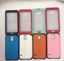 2014 New Arrival Open Window Leather Case for Samsung Galaxy S5 I9600