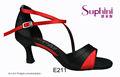 mujer zapatos de moda de fiesta de color rojo medio sandalia de tacón