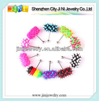 silicone vibrating tongue ring body jewelry