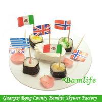 New style best sell shape toothpick flags