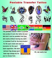 country flag temporary tattoo sticker